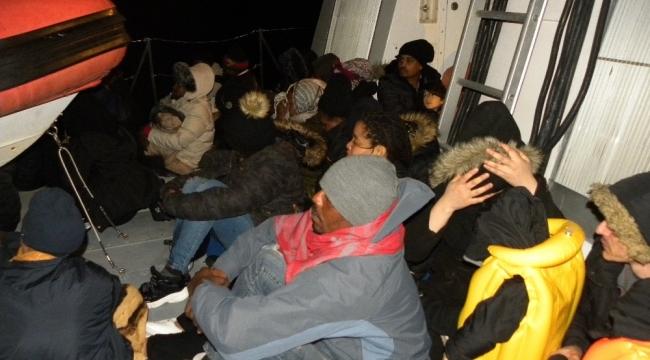 İzmir'de 98 kaçak göçmen yakalandı