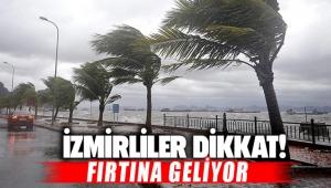 İzmirliler Dikkat Fırtına Uyarısı Geldi!
