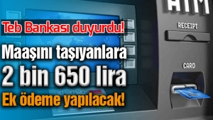 TEB Bankası emekli maaşı promosyonu 2 bin 650 lira