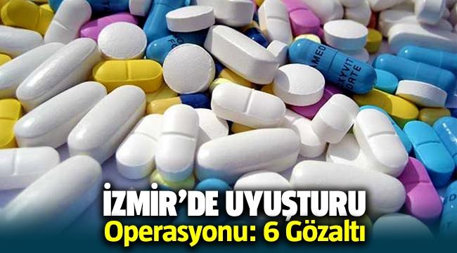 İzmir'de uyuşturucu baskını: 6 gözaltı