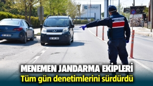 Menemen Seyrekköy Jandarma Komutanlığı tüm gün denetimlerini sürdürdü