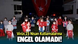Virüs'e rağmen Taş Konakları sakinleri 23 Nisanı çoşkuyla kutladı