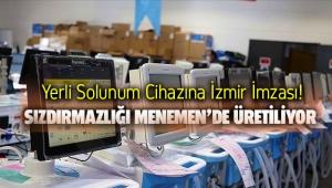 Yerli solunum cihazına Menemen'den destek