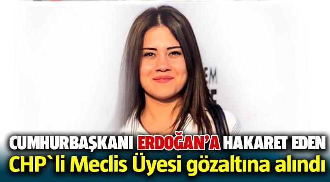Cumhurbaşkanı Eroğan'a hakaret eden CHP'li Belediye Meclis üyesi gözaltına alındı