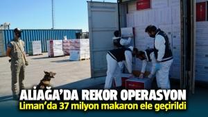İzmir Aliağa Limanında rekor operasyon: 37 milyon makaron ele geçirildi