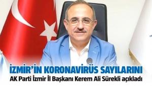 İzmir'in korona virüs rakamlarını AK Parti İl Başkanı Kerem Ali Sürekli açıkladı