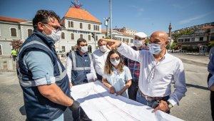 İzmir'de Yol çalışmalarına hız kazandırıldı