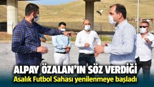 Menemen Asarlık Futbol sahası yenilenmeye başladı