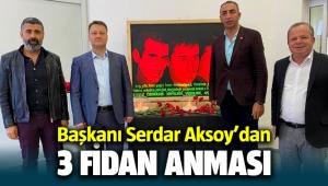 Menemen Belediye Başkanı Serdar Aksoy'dan 3 Fidan anması