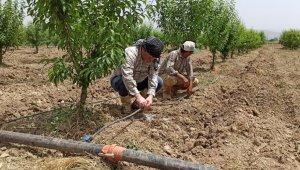 Ödemişli çiftçi damlama sulamaya yöneliyor