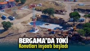 Bergama'da TOKİ konutları inşaatı başladı