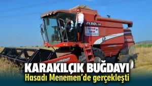 Karakılçık buğdayı hasadı Menemen'de gerçekleşti