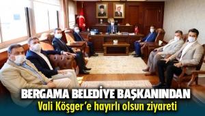 Başkan Koştu'dan Vali Köşger'e hayırlı olsun ziyareti