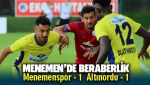 Menemen'de beraberlik Menemenspor - 1 Altınordu - 1