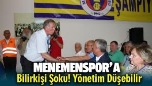 Menemenspor'da yönetim Düşebilir ! Bilirkişi raporu açıklandı