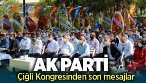AK Parti Çiğli İlçe Kongresinden mesajlar: İl Başkanı Sürekli'den Büyükşehir yorumu!