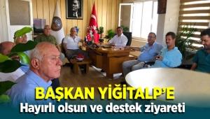 Başkan Yiğitalp'e hayırlı olsun ve destek ziyareti