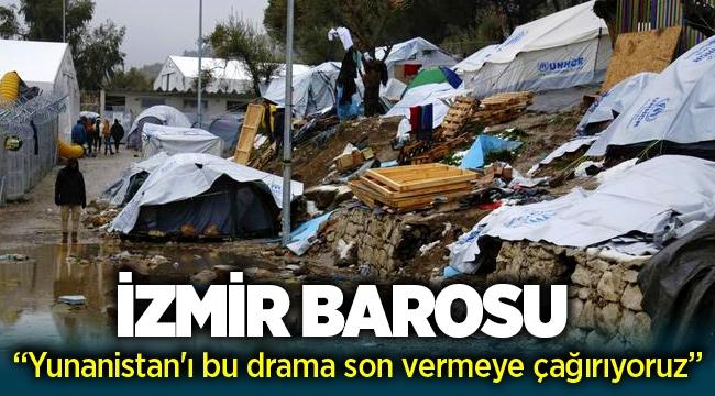 İzmir Barosu: Yunanistan'ı bu moria adasındaki drama son vermeye çağırdı