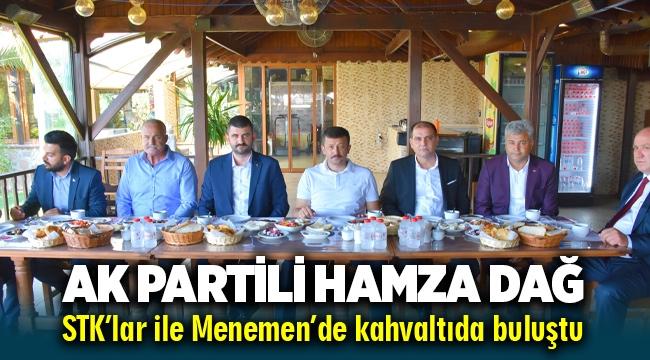 İzmir Milletvekili Hamza Dağ Menemen'de STK'lar ile kahvaltıda buluştu
