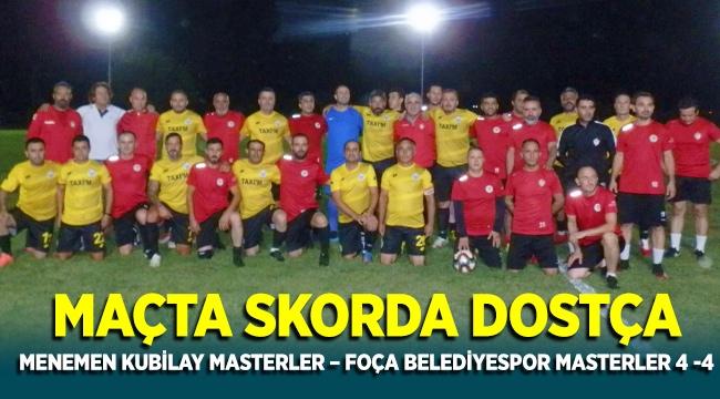 Menemen Kubilay Master - Foça Belediyespor Masterler 4-4 biten dostluk maçı