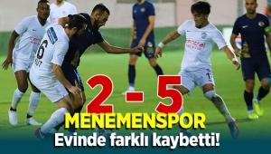 Menemenspor Tuzlaspor'a evinde farklı kaybetti