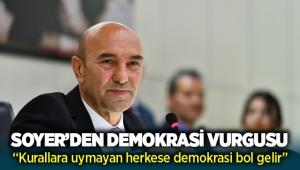 Tunç Soyer'den Mecliste Demokrasi çıkışı