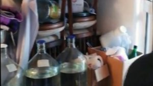 296 litre sahte alkol ele geçirildi