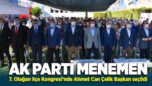 AK Parti Menemen İlçe Teşkilatı 7. Olağan Kongresi'nde Ahmet Can Çelik ilçe Başkanı seçildi
