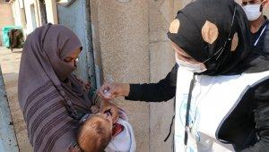 Barış Pınarı bölgesindeki çocuklar aşılandı