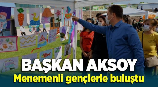Başkan Aksoy Menemenli gençlerle buluştu
