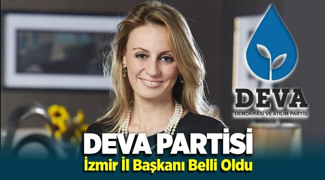 DEVA Partisi'nin yeni İzmir il başkanı Seda Kaya Ösen oldu