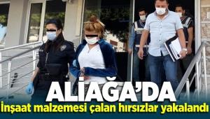 İzmir Aliağa'da inşaat malzemesi çalan hırsızlar yakalandı