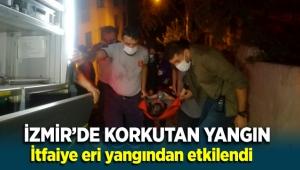 İzmir'de korkutan ev yangını: İtfaiye eri dumandan etkilendi