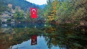 Kahramanmaraş'taki Gizemli göle yoğun ilgi