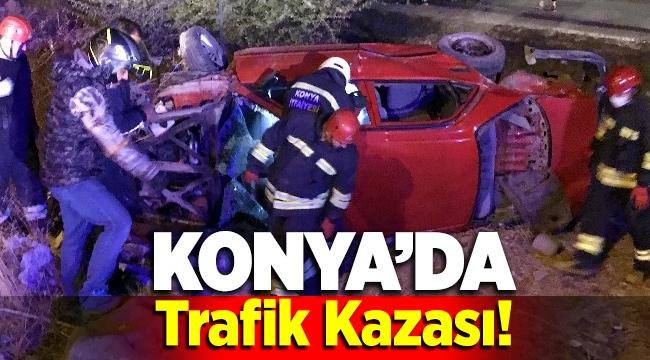 Konya Meram'da Trafik Kazası! 2 otomobil çarpıştı: 9 yaralı