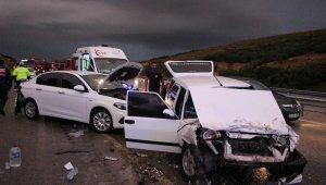 Manisa Kula'da zincirleme trafik kazası: 4 yaralı