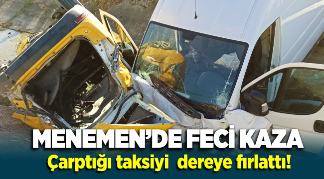 Menemen Seyrek yolunda feci kaza 6 yaralı