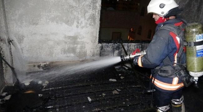 Mersin Erdemli'de korkutan yangın