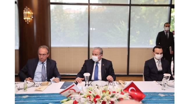 TBMM Başkanı Şentop, KKTC Cumhurbaşkanı Tatar ile görüştü