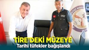 Tire Kuvayı Milliye ve Zeybek Müzesi'ne Tarihi Bağışgeldi
