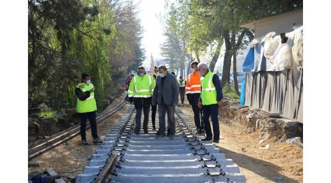 70 yıllık askeri demiryolu hattı yenileniyor