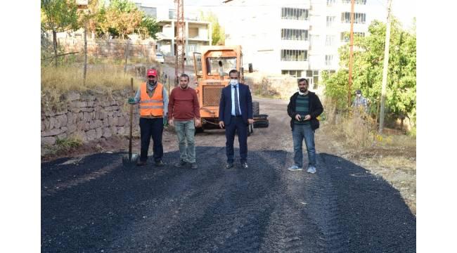 Ahlat'ta sıcak asfalt çalışması