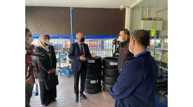 AK Parti Efeler İlçe Başkanlığı'ndan esnaf ziyareti