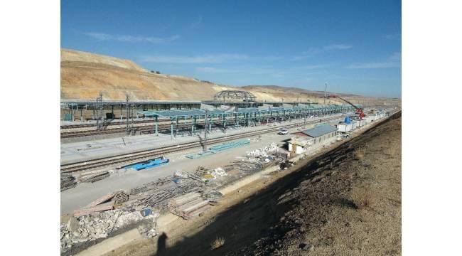 Ankara-Sivas Yüksek Hızlı Tren hattında istasyon yapım çalışmaları sürüyor
