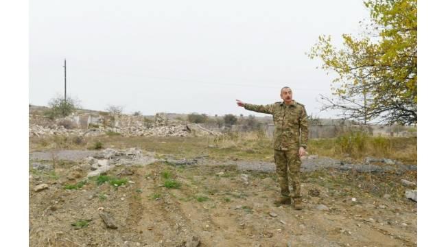 Azerbaycan Cumhurbaşkanı İlham Aliyev Fuzuli ve Cebrayıl bölgelerini ziyaret etti