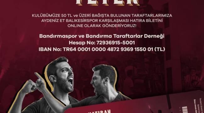 Bandırmaspor'dan derbi için hatıra bileti kampanyası