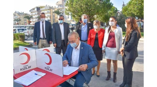 Başkan Atabay'dan kan bağışına büyük destek