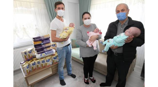 Başkan Büyükgöz'den üçüz bebeklere ziyaret