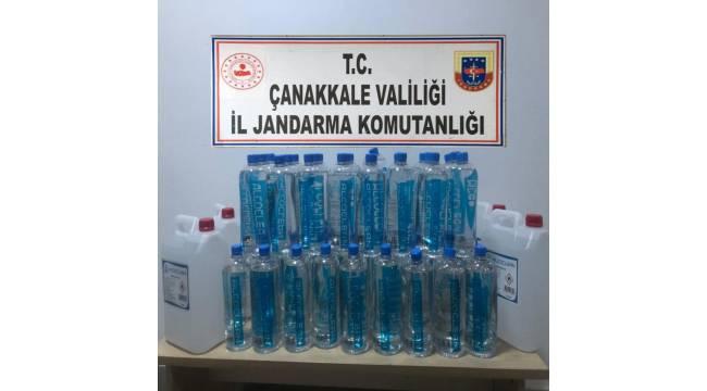 Biga'da sahte içki operasyonu: 3 gözaltı