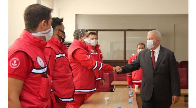 Deprem profesöründen Başkan Atay'a teşekkür